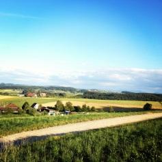 Biking track in the countryside